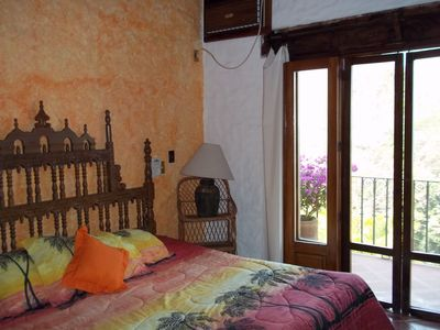 Puerto Vallarta villa rental - Second bedroom with private deck and bathroom.