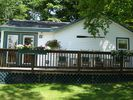 Deck facing the lake - Gilford cottage vacation rental photo