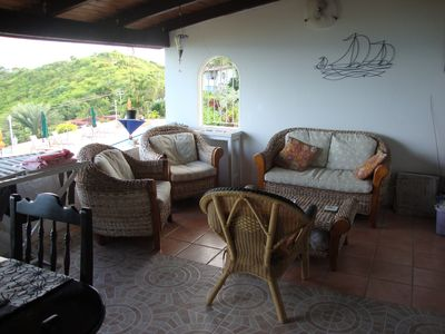 Antigua villa rental - Verandah sitting area