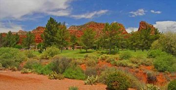 Sedona house rental - This is the view from your deck!!! Sedona golf rental home