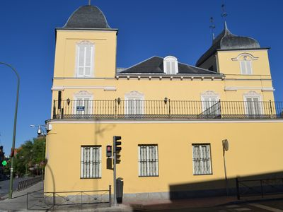 Opposite the Palace of the Dukes of Pastrana