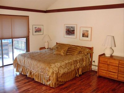 Master Bedroom, Cal King, spacious double mirrored closets & chair