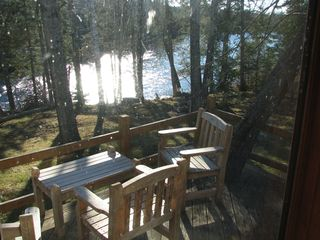 Rockwood cabin photo - The deck overlooking Moose River