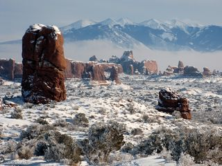 Moab condo photo - Rare snow storm in Arches Nat'l Park (January 2010). Breathtaking!