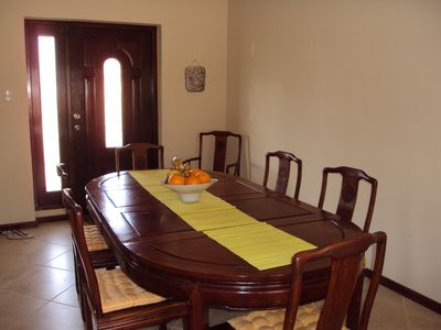 Aruba townhome rental - dining area
