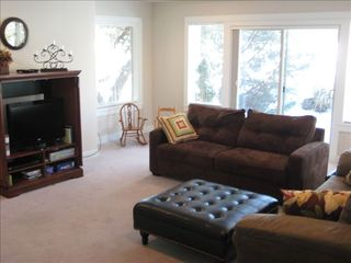 Eagle Crest house photo - Downstairs living room w/sleeper sofa and LG LCD Flat Screen TV.
