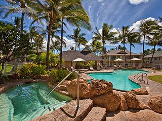 Ko Olina condo photo - Kai Lani's peaceful pool area with spa
