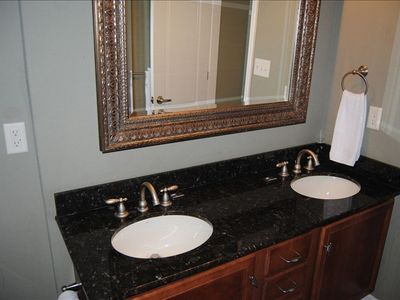 Master bath, his and hers vanity