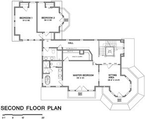 Falmouth house photo - Second floor room layout