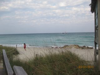 Deerfield Beach condo photo - View of Sandy Beach off condo with life guard tower on right