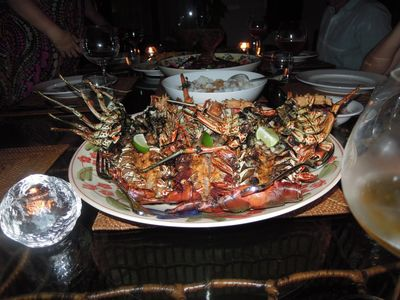 The best sea food Bali can offer cook by Komang to perfection