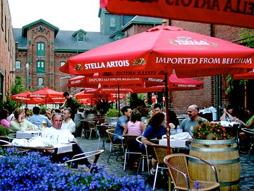 the distillery district, 10 minutes walk