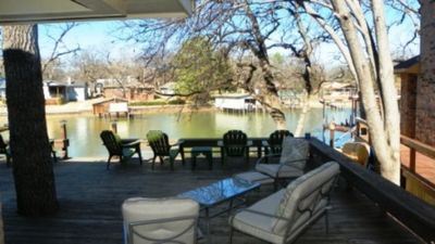 Cedar Creek Lake house rental - Deck View