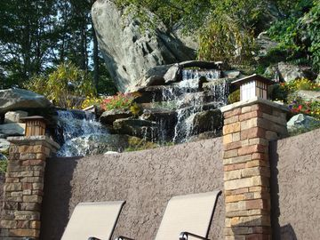 Waterfall by Outdoor Pool