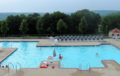 One of the outdoor pools in the community.