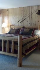 Sunriver house photo - Master King log bed