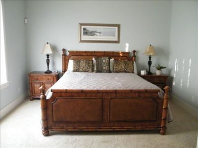 Master king size bed on main level with adjoining bath.