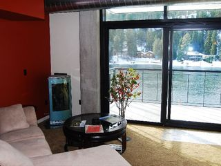 Coeur d 'Alene condo photo - Relaxing river view from comfortable living room.