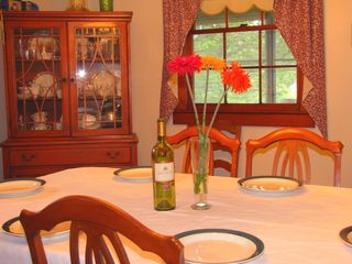 Mashpee house photo - Spacious dining room seats 6