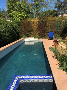 Very private 40-foot lap pool and spa