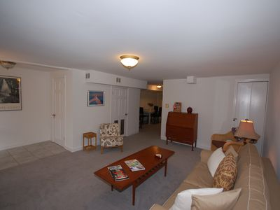 Large open living room-- Queen sleeper sofa, Wifi, cable TV and laundry