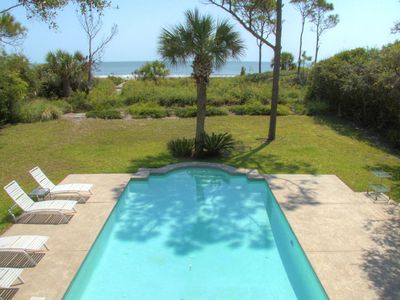 Sea Pines house rental - Ocean view from balcony
