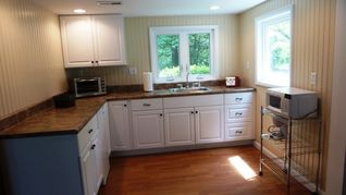 Cape Charles cottage photo - Kitchen with microwave, toaster oven, mini fridge