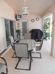 Cape Coral villa photo - lanai sitting area with grill