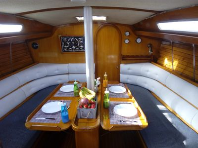 Cabin in a Sailing Yacht