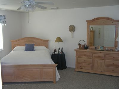 Seaside Park house rental - Master Bedroom (Queen Bed) with adjoining master bath
