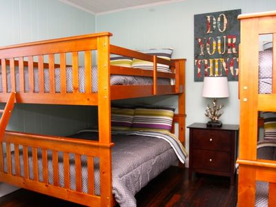 Bunk Room with Four Full Beds