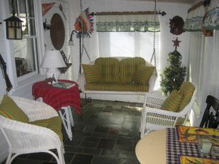 Enclosed Back Porch with 4 large sliding windows - Chepachet cottage vacation rental photo