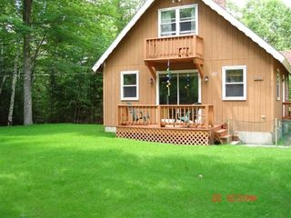 Newfound Lake house photo - Front of house with a nice lawn area