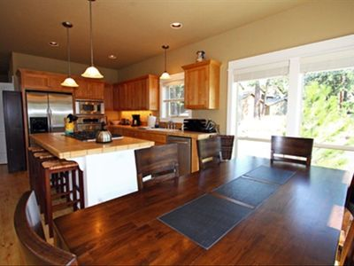 A Chef's delight, fully appointed kitchen and dining table for eight