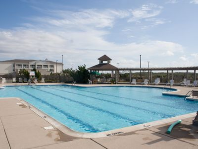 Oceanfront pool at Pine Island Beach Club