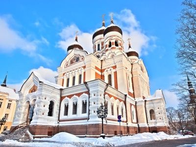 To Alexander Nevsky Cathedral is an easy walk