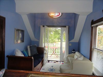 South Haven house rental - Party room (sleeps two) and balcony