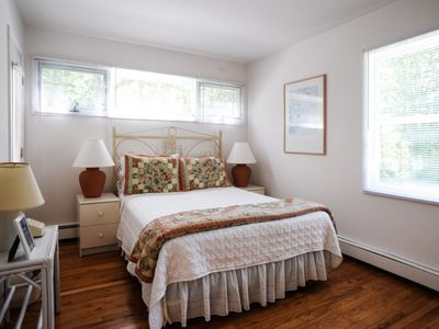 East Hampton house rental - Master bedroom with private balcony.