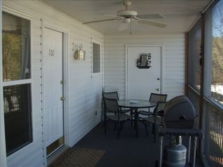 Lake Ozark condo photo - Screened Porch With Great View Of The Lake