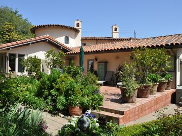 Carmel house rental - The sunny patio and garden are easily accessed from most rooms in the house.