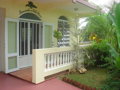 Tropical Garden & Entrance to Large Condo/Apartment with all the Comforts.