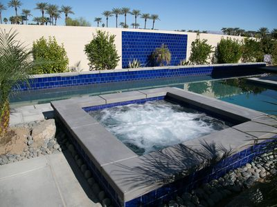 Indian Wells house rental - New Spa seats 8 with back, feet and ankle jets, relax and enjoy the views.