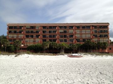 Beach view of building....we are the top floor