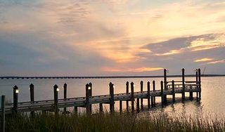 Sunset Island Ocean City townhome photo - Fishing Pier on the Island