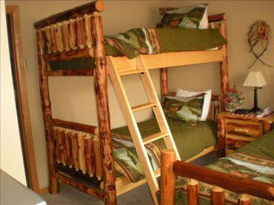 Bunk Beds on First Floor with Queen Bed