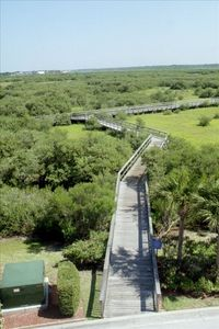 Approximately 6000 feet of board walk through and over the wet lands
