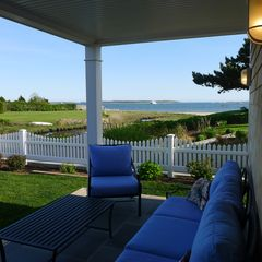 West Yarmouth house photo - Relax on the cozy patio.......