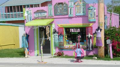 "Past the ""Fishingest Bridge"" on Pine Island Rd find colorful shops and eateries."