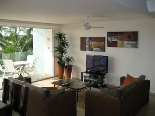Ixtapa condo photo - Living area with 43' plasma TV