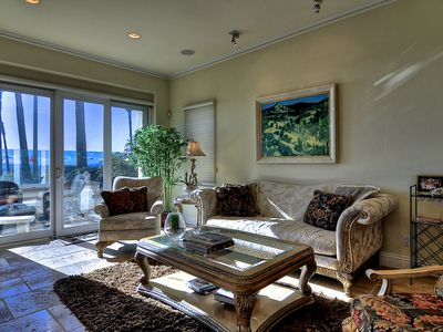Living Room with patio and panoramic ocean views.